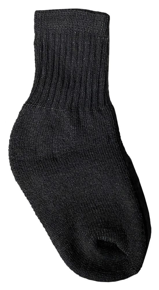 Kids Wholesale Cotton Crew Socks Black Crew Socks For Kids Sock Size 4-6