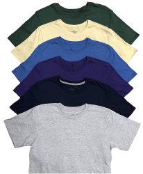 SOCKSINBULK Mens Cotton Crew Neck Short Sleeve T-Shirts Mix Colors Bulk Pack Size Medium