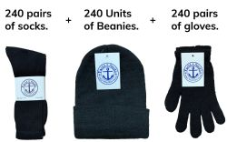 Winter Bundle Care Kit, For Men Includes Socks Beanie And Glove 720 pack