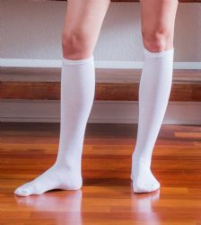 Yacht & Smith Women's White Only Long Knee High Socks, Sock Size 9-11 6 pack