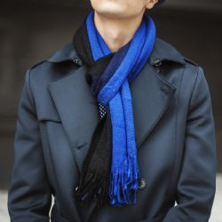 Yacht&smith 3 Pack Mens Designer Winter Scarves, Stripe Patterned Neck Scarf Price Per 3