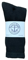 Yacht & Smith Men's Cotton Crew Socks Black Size 10-13 12 pack
