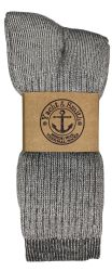 Yacht & Smith Mens Terry Lined Merino Wool Thermal Boot Socks