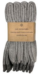 Yacht & Smith Womens Terry Lined Merino Wool Thermal Boot Socks 12 pack