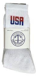 Yacht & Smith Men's Wholesale Bulk Cotton Socks, With Free Shipping Size 10-13 (white Usa)
