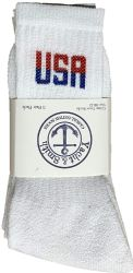 Yacht & Smith Men's Wholesale Bulk Cotton Socks, With Free Shipping Size 10-13 (white Usa) 240 pack