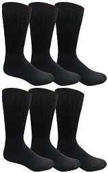 Yacht & Smith Men, Hunting Hiking Backpacking Thermal Sock (navy) 6 pack