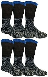 Yacht & Smith Men, Cotton Athletic Sports Casual Socks 6 pack