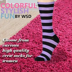 Yacht & Smith Women's Cotton Crew Socks, Assorted Colors Size 9-11