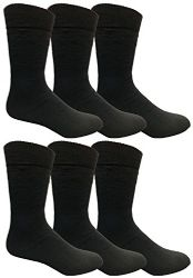 Yacht & Smith Mens Tube Socks, Comfortable Cotton Blend Size 10-13