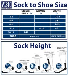 Yacht & Smith Men's Cotton Tube Socks, Referee Style, Size 10-13 White With Stripes 6 pack