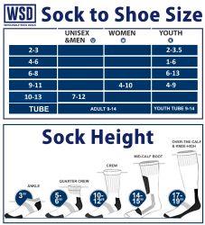 Yacht & Smith Men's Cotton Tube Socks, Referee Style, Size 10-13 White With Stripes