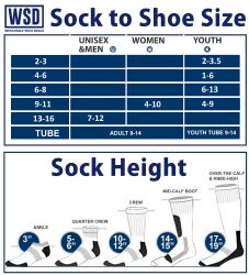 Yacht & Smith Women's Cotton Tube Socks, Referee Style, Size 9-15 Solid White