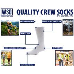 Yacht & Smith Men's Cotton Crew Socks Navy Size 10-13 12 pack