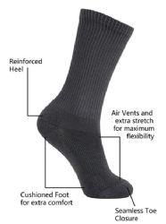 Yacht & Smith Kids Cotton Crew Socks Black Size 4-6 24 pack