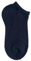 Yacht & Smith Kids No Show Ankle Socks Size 6-8 Black Bulk Pack