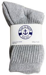 Yacht & Smith Kids Cotton Crew Socks Gray Size 6-8 180 pack