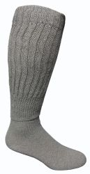 Yacht & Smith Mens Heavy Cotton Slouch Socks, Solid Heather Gray 24 pack