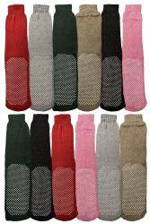 Yacht & Smith Women's Thermal NoN-Slip Tube Socks, Gripper Bottom Socks