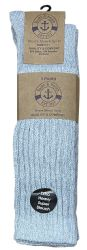 Yacht & Smith Womens Heavy Cotton Slouch Socks, Solid Heather Gray 24 pack