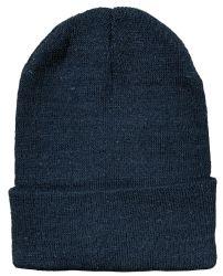 Yacht & Smith Black Unisex Winter Warm Beanie Hats, Cold Resistant Winter Hat