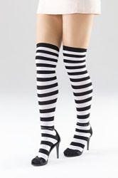 Yacht&smith Womens Over The Knee Socks Stripe Referee Knee High Socks
