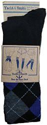 Yacht & Smith Womens Over The Knee Socks Thigh High Knee Socks Argyle Print