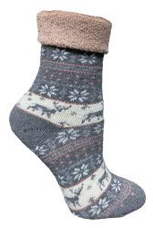 Yacht & Smith Womens Thick Soft Knit Wool Warm Winter Crew Socks, Patterned Lambswool, FAIR ISLE PRINT 24 pack