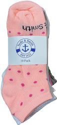 Yacht & Smith Girls Colorful Fun Printed Thin Lightweight Low Cut Ankle Socks