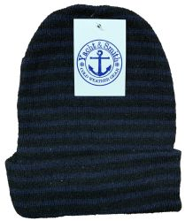 Yacht & Smith Unisex Knit Winter Hat With Stripes Assorted Colors