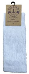 Yacht & Smith Slouch Socks For Women, Solid White Size 9-11 - Womens Crew Sock