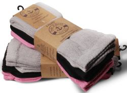 Yacht & Smith Slouch Socks For Women, Assorted Pink Black Gray, Sock Size 9-11