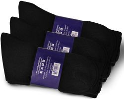 Yacht & Smith Womens Lightweight Cotton Black No Show Ankle Socks, Sock Size 9-11