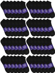 Yacht & Smith Mens Cotton Black No Show Ankle Socks, Sock Size 10-13