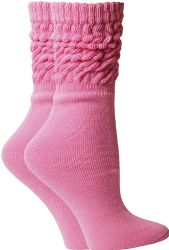 Pink Ribbon Breast Cancer Awareness Crew Socks for Women, Size 9-11