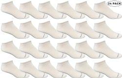 Bulk Pack Men's Cotton Light Weight Breathable No Show Loafer Socks, White Size 10-13