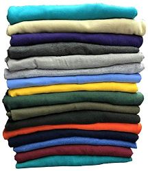 SOCKSINBULK Mens Cotton Crew Neck Short Sleeve T-Shirts Mix Colors Bulk Pack Size 2X