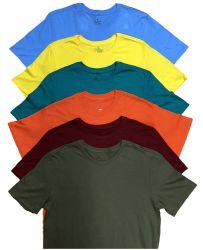 SOCKSINBULK Mens Cotton Crew Neck Short Sleeve T-Shirts Mix Colors Bulk Pack Size 4X