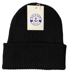 Yacht & Smith Unisex Black Stretch Ribbed Sherpa Beanie, Super Warm Winter Beanie 240 pack