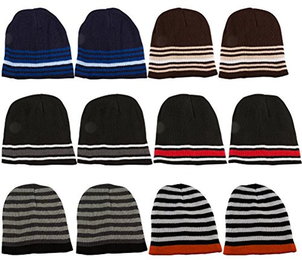 77a6d313c24 12 Units Of excell Mens Womens Warm Winter Hats In Assorted Colors ...