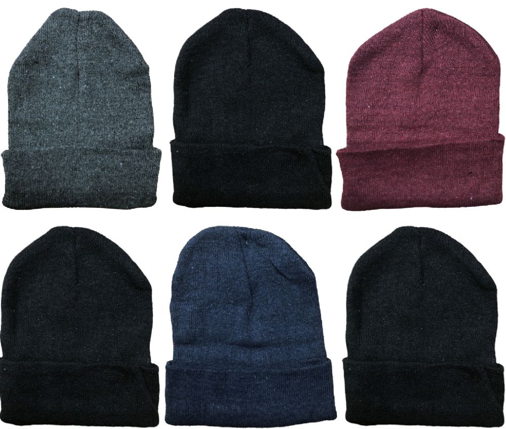 6 Pieces Of SOCKSNBULK Mens Womens Warm Winter Hats In Assorted Colors c40c35e90cf9