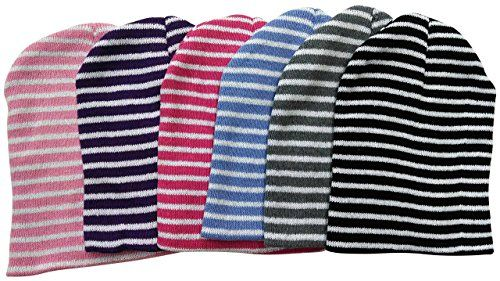 0563403f75a 6 Hats excell Women s Fashion Striped Winter Beanie Hats - at ...