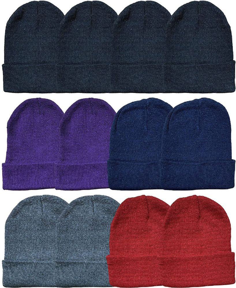 12 Piece Ladies Winter Toboggan Beanie Hats by excell Thermal Sport - at -  socksinbulk.com - Socksinbulk.com 21ba81f75