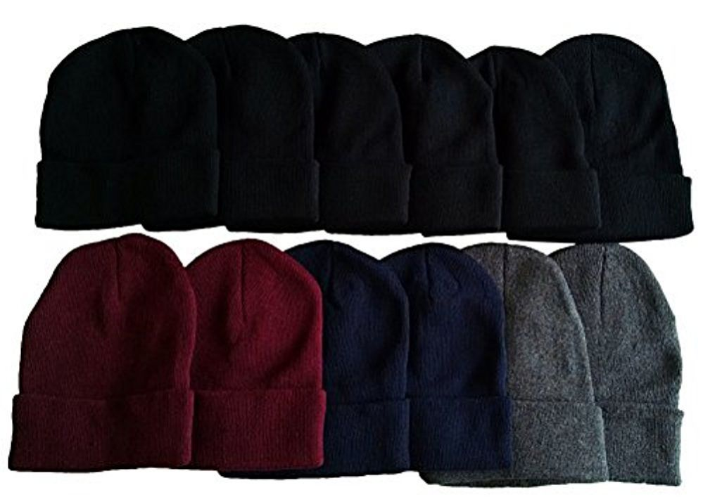 faefdbb85ed excell 12 Pairs Value Pack of Fleece Hats
