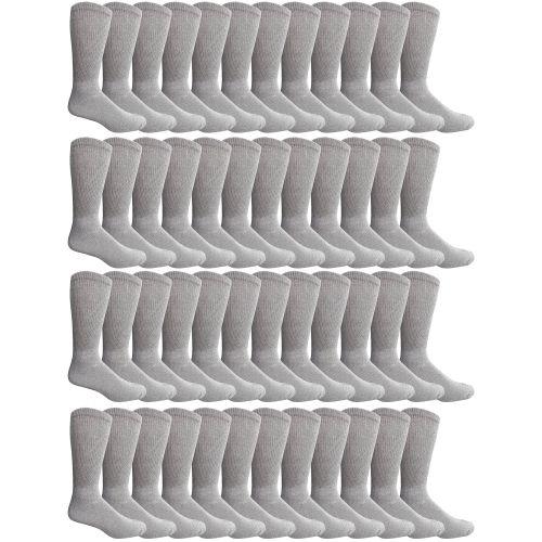 48 Pairs Of Cotton Diabetic Non-Binding Crew Socks (10-13
