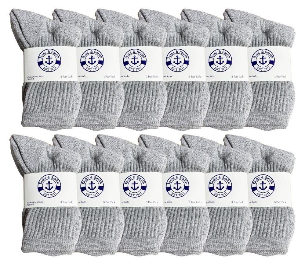 Soft Sports Socks In Bulk Packs, SOCKSNBULK 60 Pairs of Kids Crew Socks Black