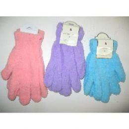 Ladies Fuzzy Gloves 144 pack