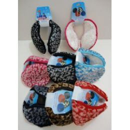 Earmuffs with Fur Inside--Printed 72 pack