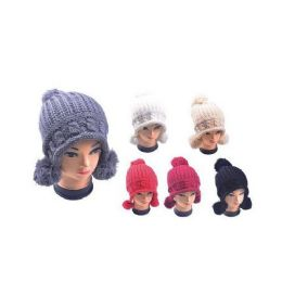 Hat With 3 Pom Poms 36 pack