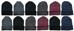Unisex Winter Warm Acrylic Knit Hat 36 pack